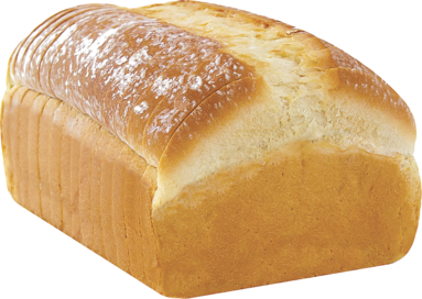White Naked Bread Loaf