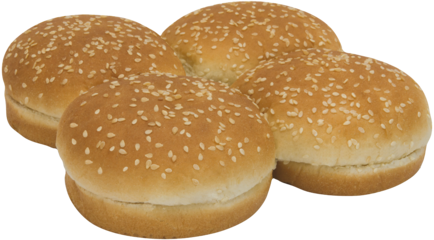 Sesame Seeded Sandwich Buns Top of Buns Image