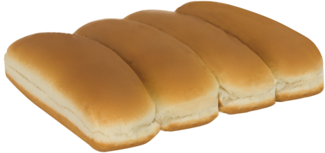 White Hot Dog Buns Top of Buns Image