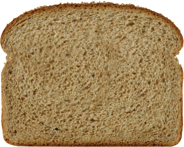 100% Whole Wheat Bread Slice Image