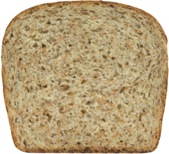Natural Wheat Bread Slice