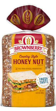 Brownberry Country Style Honey Nut Bread 24oz Packaging