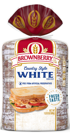 Brownberry Country Style White Bread 24oz Packaging