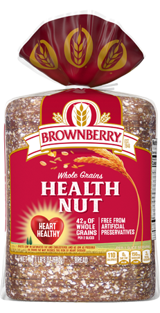 Brownberry Health Nut Bread 24oz Packaging