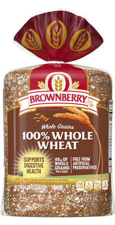 Brownberry 100% Whole Wheat 24oz Packaging
