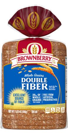 Brownberry Double Fiber Bread 24oz Packaging