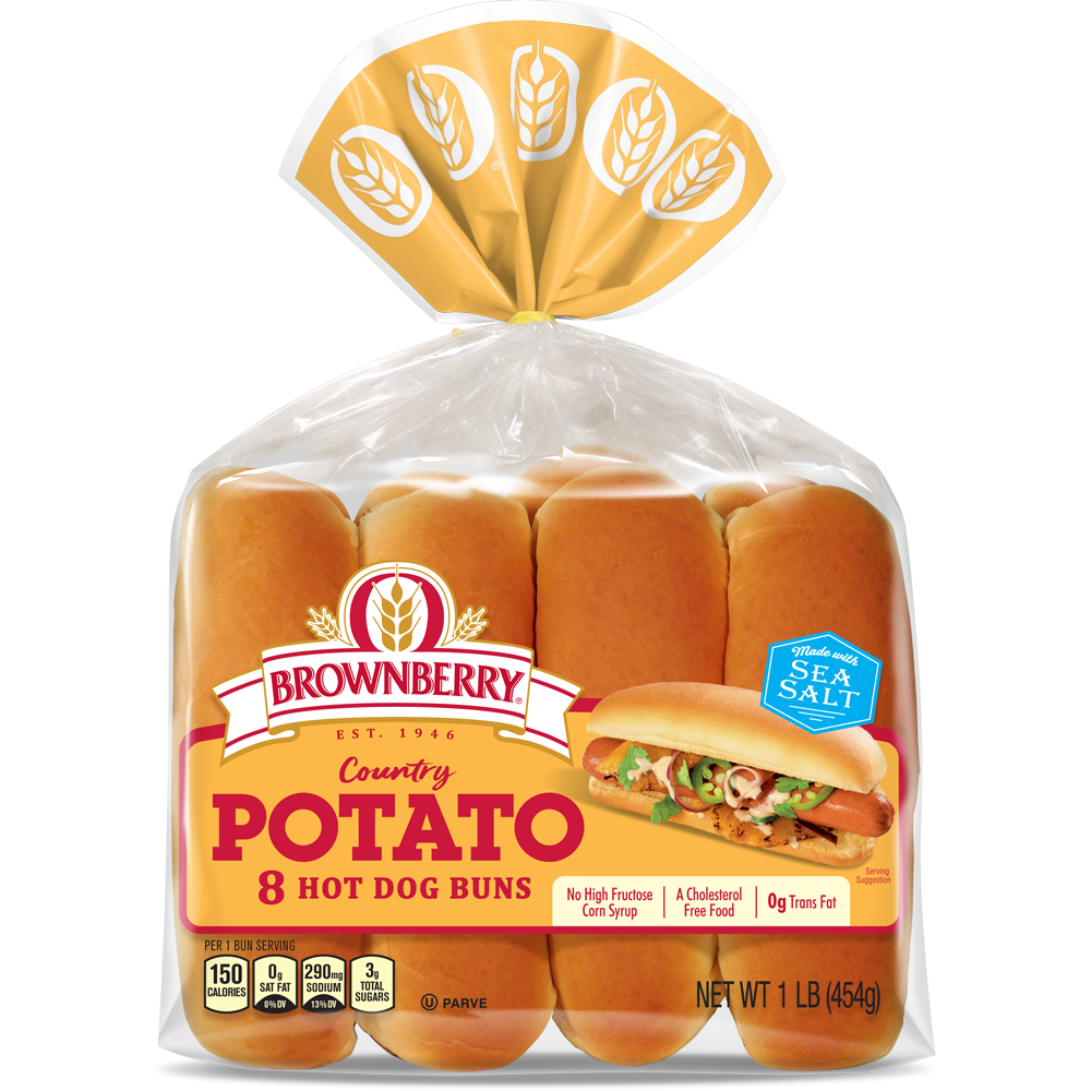 Brownberry Potato Hot Dog Buns Package
