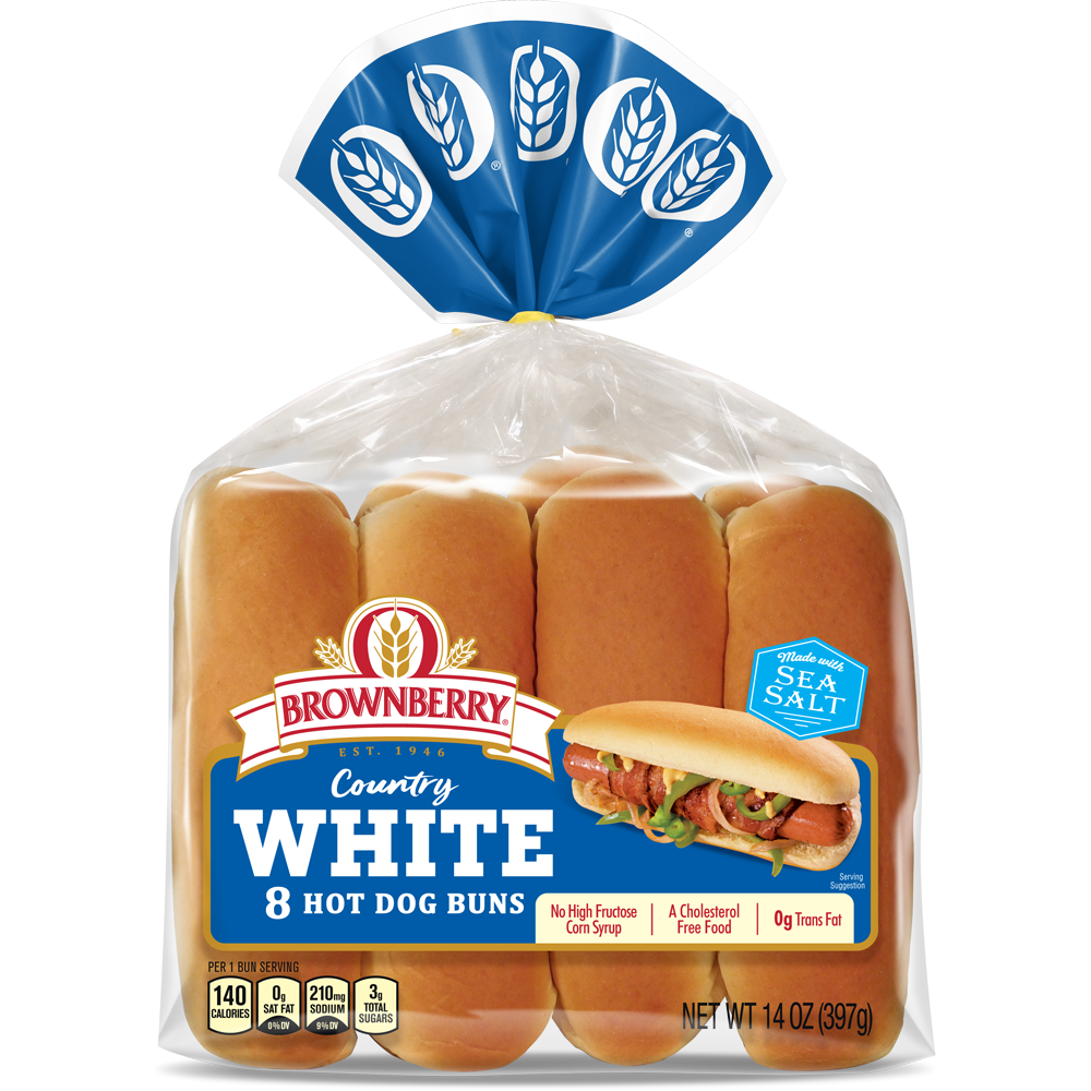 Brownberry White Hot Dog Buns Package