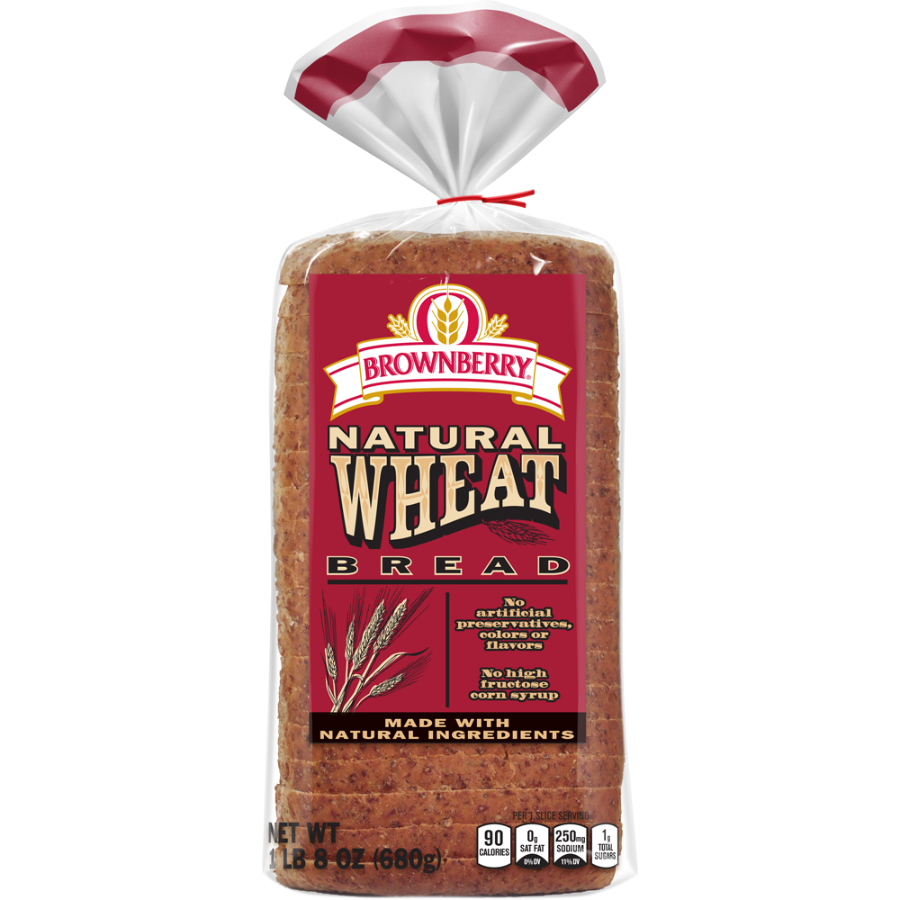 Brownberry Natural Wheat Bread Package