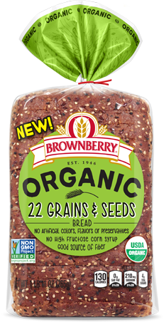 Arnold Organic 22 Grains & Seeds Bread Package Image