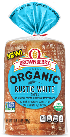 Brownberry Organic Rustic White Bread Package Image
