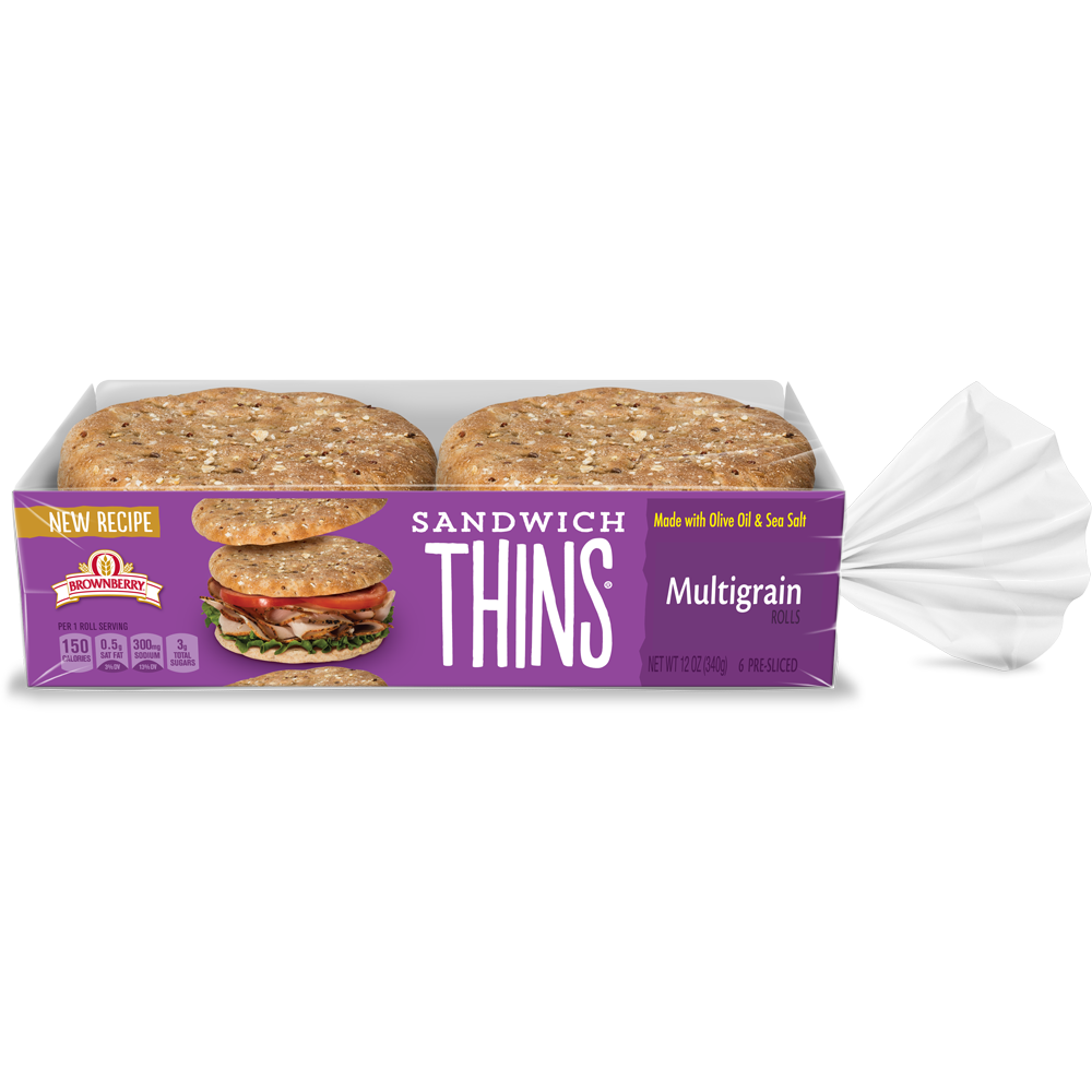 Brownberry Sandwich Thins Multigrain Package Image