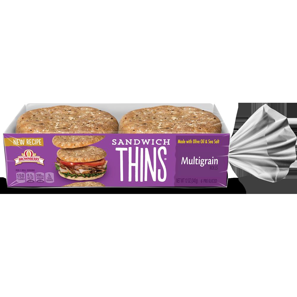Brownberry Sandwich Thins Multigrain Package