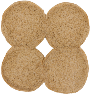 100% Whole Wheat Sandwich Buns Inside of Buns