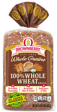 Brownberry 100% Whole Wheat Bread Package