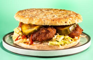 Nashville Hot Not-Fried Chicken Sandwich Recipe Image