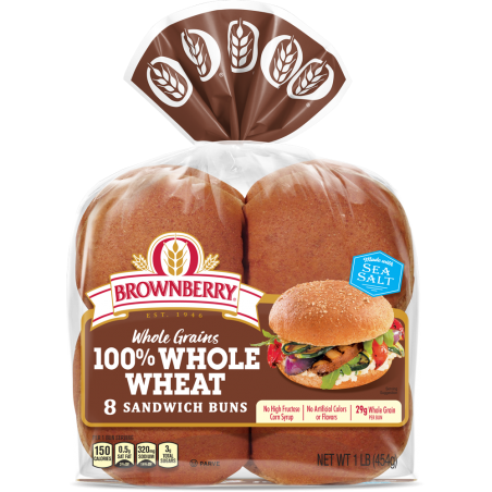 100% Whole Wheat Buns